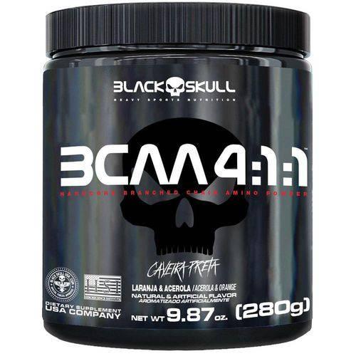 Tudo sobre 'Bcaa 4.1.1 280g - Black Skull'