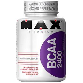 BCAA 2400 100 Cápsulas - Max Titanium - SEM SABOR - 100 CÁPSULAS