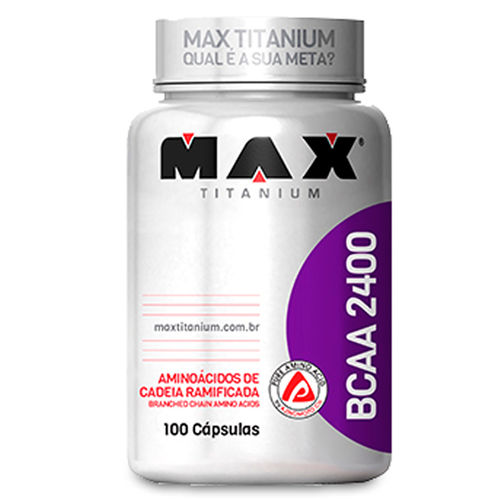 Bcaa 2400 100 Cápsulas Max Titanium
