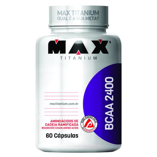 BCAA 2400 60 Cápsulas - MAX TITANIUM - Massa Muscular