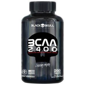 Bcaa 2400 - Black Skull - 200 Tabletes - Sem Sabor
