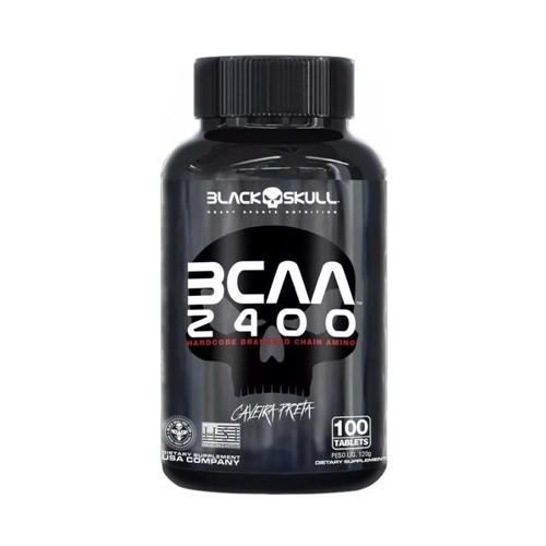 BCAA 2400 Black Skull com 100 Tabletes