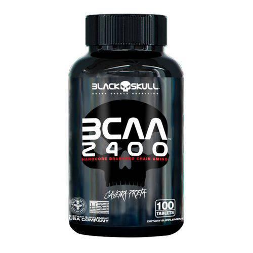 Bcaa 2400 Caveira Preta - 100 Tabs - Black Skull