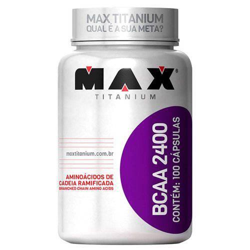 Bcaa 2400 - Max Titanium - 100 Cápsulas