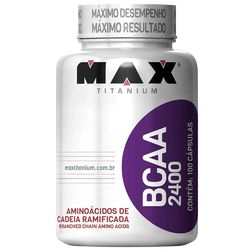BCAA 2400 Max Titanium 100 Cápsulas
