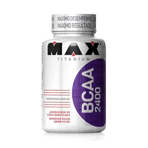 BCAA 2400 - Max Titanium BCAA 2400 100 Cápsulas - Max Titanium - SEM SABOR
