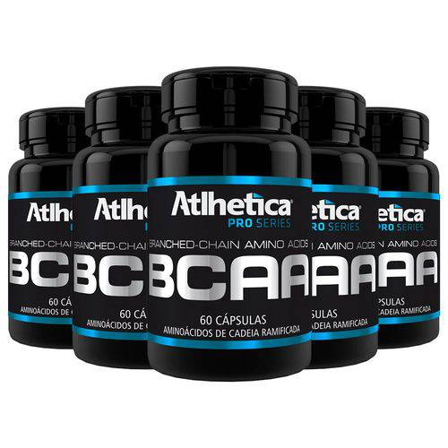 BCAA - 5 Un de 60 Cápsulas - Atlhetica