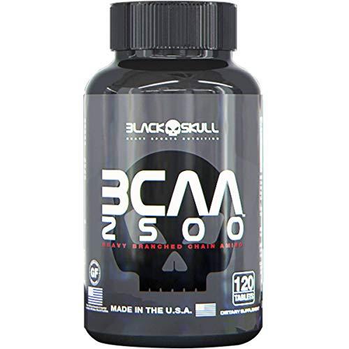 BCAA 2500mg 120 Cápsulas Black Skull