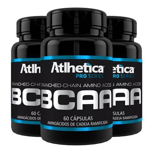 BCAA - 3 Un de 60 Cápsulas - Atlhetica