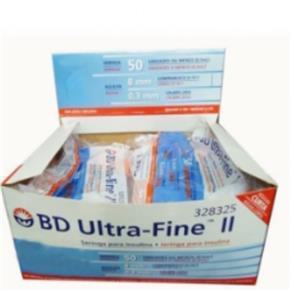 BD Ultra Fine Seringa para Insulina Agulha Curta 0,5cc com 10