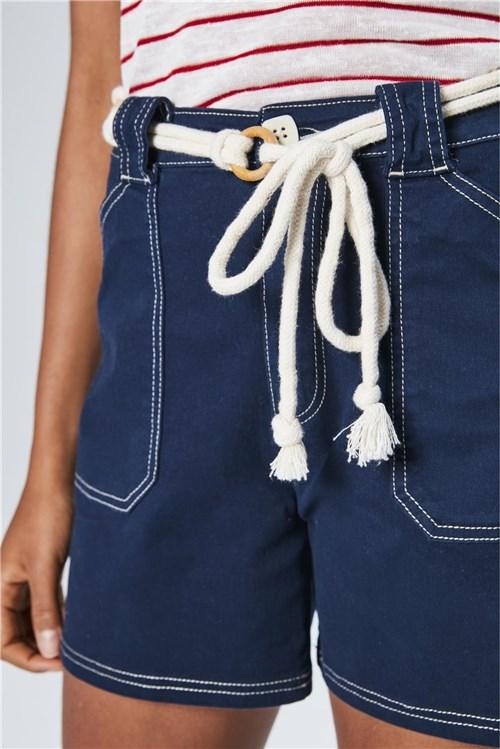 Bermuda Jeans Solta de Cintura Alta
