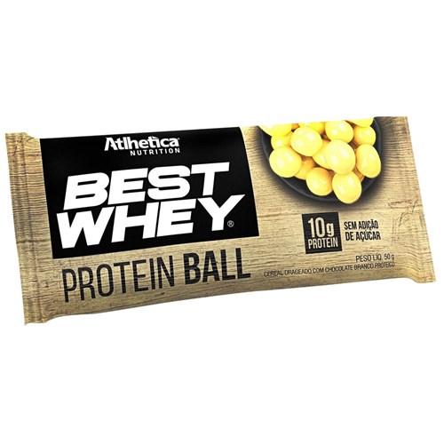 Best Whey Protein Ball 50g Chocolate Branco Proteico - Atlhetica Nutrition