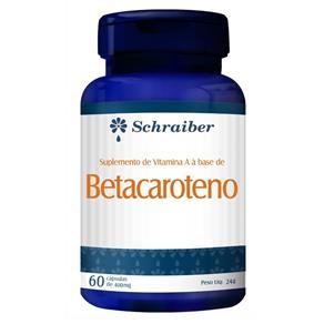 Betacaroteno - 60 Cápsulas 400mg - Sem Sabor - 60 Cápsulas