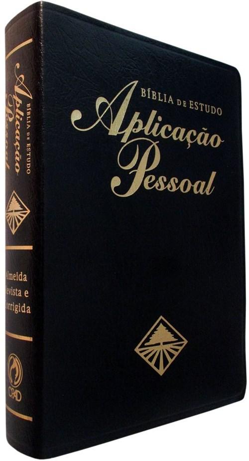Bíblia de Estudo Aplicação Pessoal Grande - Preta (Preto)