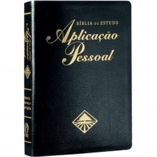 Biblia de Estudo Aplicacao Pessoal Media - Luxo - Preta - Cpad