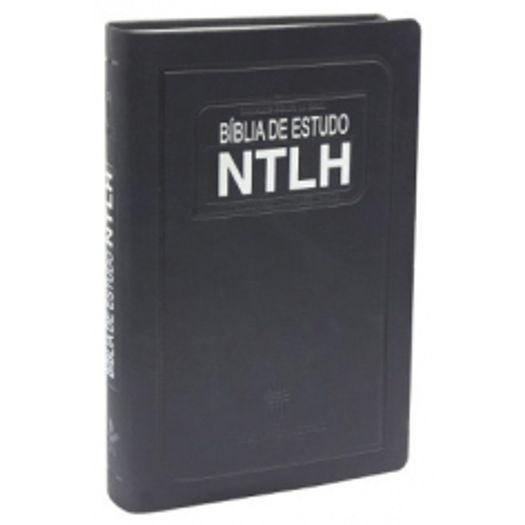 Biblia de Estudo Couro Sint Azul Escovado Ntlh - Ntlh065e - Sbb