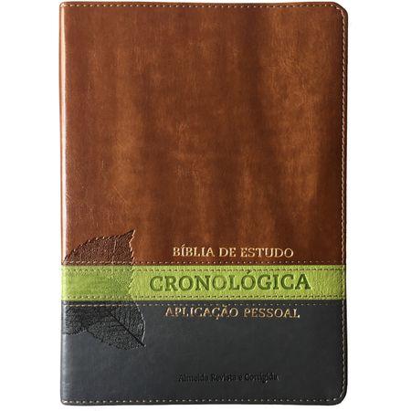Bíblia de Estudo Cronológica Aplicação Pessoal Marrom e Verde