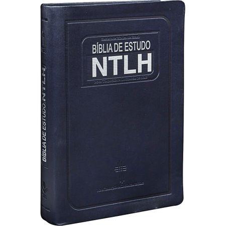 Bíblia de Estudo NTLH Média Azul