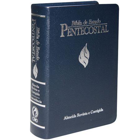 Bíblia de Estudo Pentecostal Média Azul