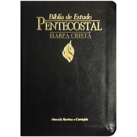 Bíblia de Estudo Pentecostal Pequena com Harpa Preta
