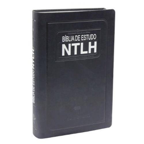 Bíblia Ntlh de Estudo Média Azul Escovado