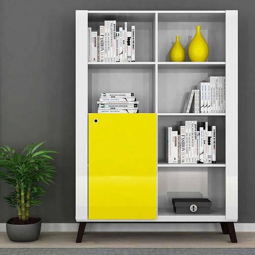 Tudo sobre 'Biblioteca Alpha - Colibri Móveis Branco Neve/amarelo'
