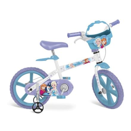 Bicicleta Frozen Disney Bandeirante Aro 14 - Brinquedos Bandeirante