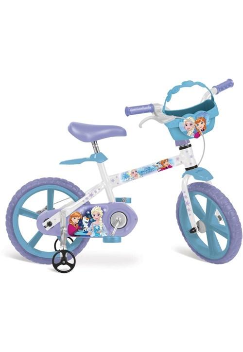 Bicicleta 14 Frozen Disney Bandeirante Lilás