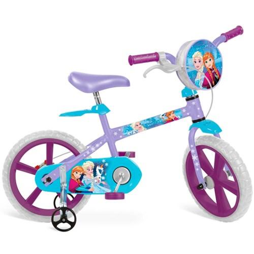 "Bicicleta 14"" Frozen Disney - Brinquedos Bandeirante"