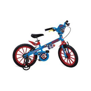 Bicicleta 16 Capitão América Bandeirante - Azul