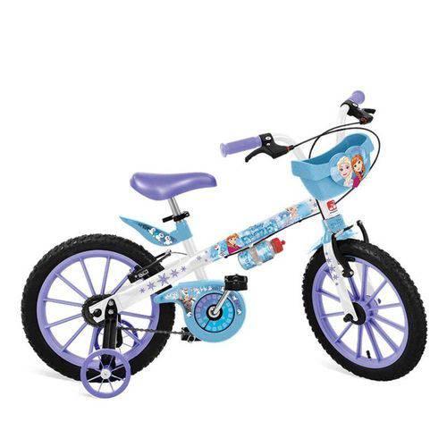 """Bicicleta 16"""" Frozen Disney Cestinha Bandeirante - 2499"""