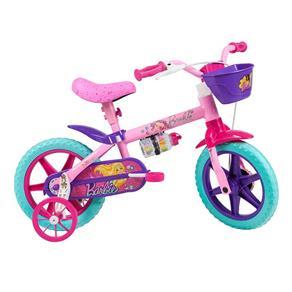 Bicicleta Aro 12 Caloi Barbie - Rosa