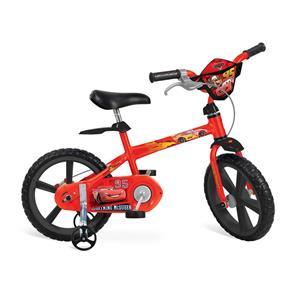 Bicicleta Aro 14 Bandeirante Cars Disney - Vermelha