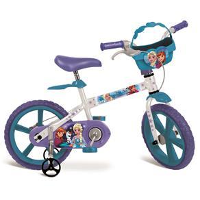 Bicicleta Aro 14 Bandeirante Disney Frozen - Branca