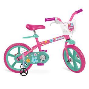 Bicicleta Aro 14 Bandeirante Gatinha - Rosa
