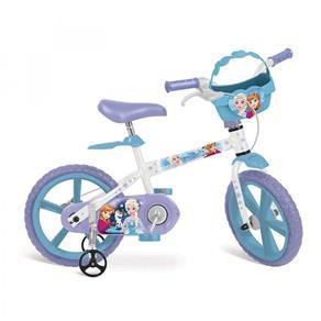 Bicicleta Aro 14 Disney Frozen Brinquedos Bandeirante Branca