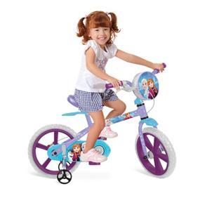 Bicicleta Aro 14 Frozen Disney 2485 Bandeirantes