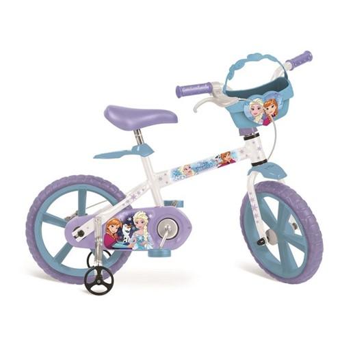 Bicicleta Aro 14 - Frozen Disney - Bandeirante - BANDEIRANTE