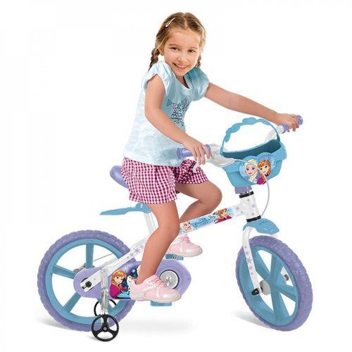 Bicicleta Aro 14 Frozen Disney Bandeirantes