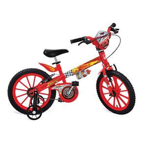 Bicicleta Aro 16 Bandeirante Cars Disney - Vermelha