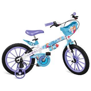 Bicicleta Aro 16 Bandeirante Disney Frozen - Branco/Azul