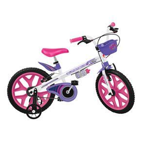 Bicicleta Aro 16 Bandeirante Superbike - Branco/Rosa