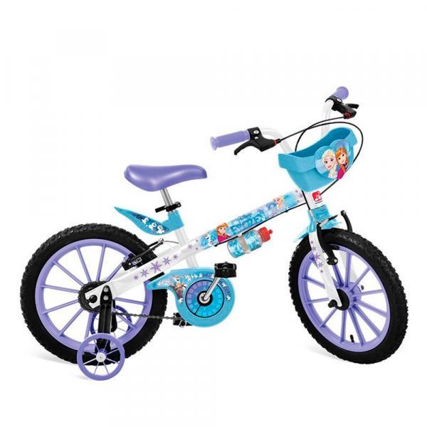 Bicicleta Aro 16 com Rodinhas e Cestinha Frozen -Bandeirante