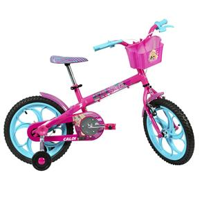 Bicicleta Aro 16 - Disney - Barbie - Rosa - Caloi Bicicleta Aro 16- Disney - Barbie - Rosa - Caloi