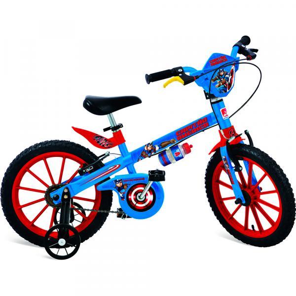 Bicicleta Aro 16 Marvel Capitão América - Bandeirante
