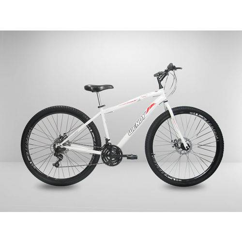 Tudo sobre 'Bicicleta Branca Aro 29 Wendy 21v Disco Câmbios Shimano'