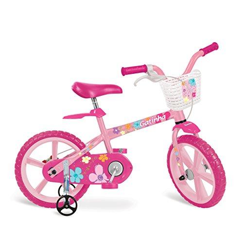 """Bicicleta Aro Gatinha Bandeirante Rosa 14"""""""