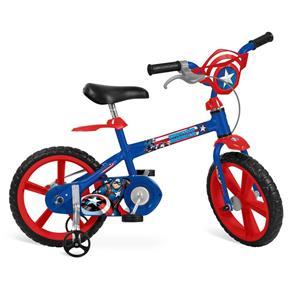 Bicicleta ARO Marvel Capitão América Bandeirante
