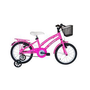 Bicicleta Athor Aro 16 Bliss Feminina com Cestinha Rosa
