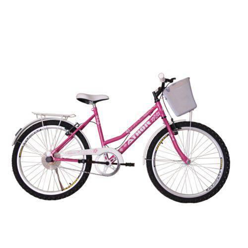 Bicicleta Athor Aro 24 Nature Freio V- Brake C/ Cestão - Rosa
